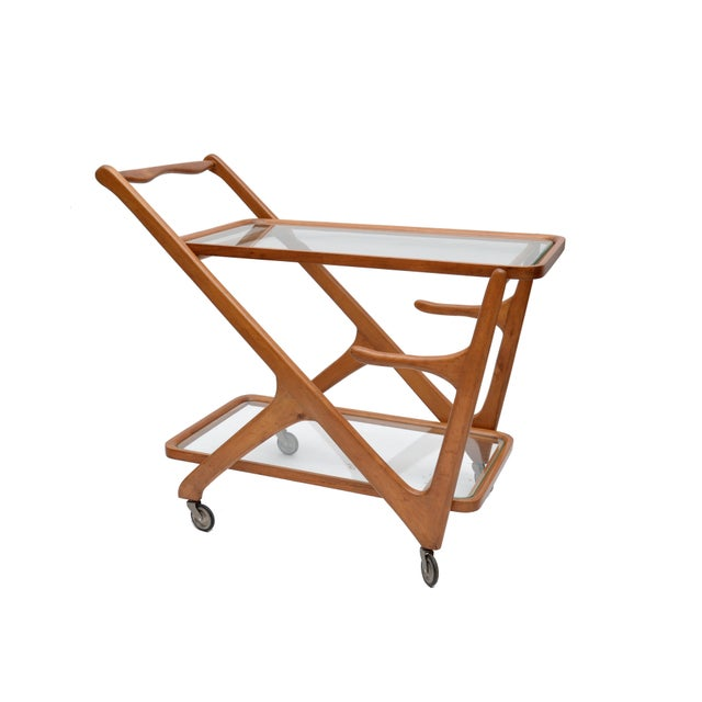 Cesare Lacca Wooden Bar Cart for Cassina, Italy - Image 3 of 8