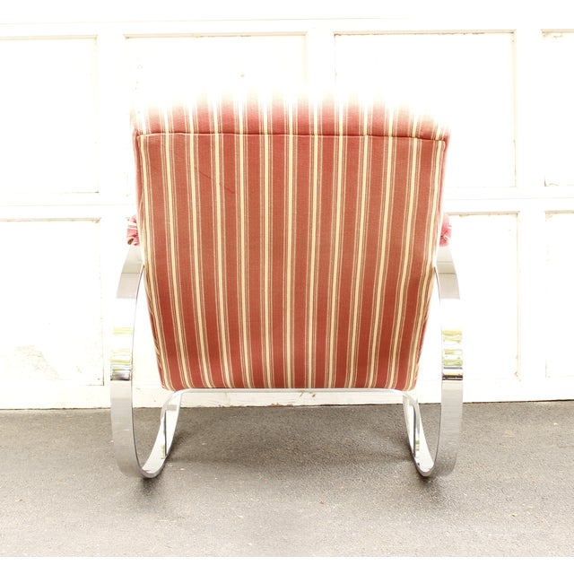 Guido Faleschini Mid-Century Chrome Rocking Chair - Image 8 of 9