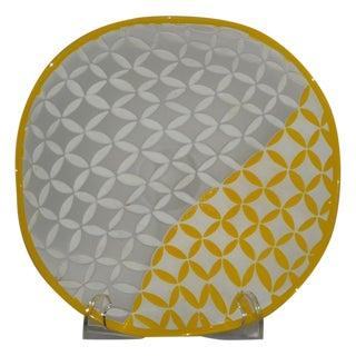 Orrefors Scandinavian Carved Art Glass Bowl
