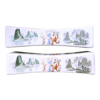 Chinese Porcelain Opium Pillows - A Pair