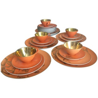 Dorothy Thorpe Persimmon China Set - Set of 67
