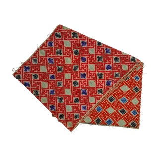 Hill Tribe Silk Embroidered Table Runner