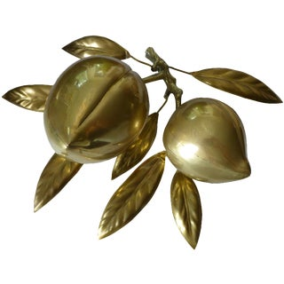 Large Vintage Holiday Brass Plums/Seed Pods