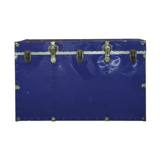 Vintage Royal Blue Travel and Steamer Trunk
