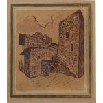 Image of Vintage Italian Watercolors of Florence - Pair
