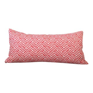 Flamingo Orange Graphic Geometric Kidney Pillow Cover