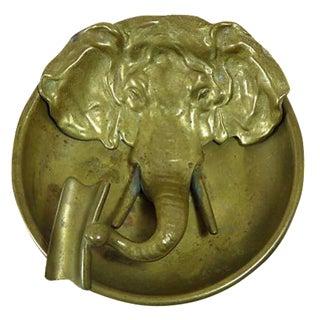 Antique Bronze Elephant Ashtray