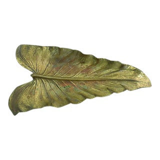 Large Metalcrafters Brass Leaf Catchall