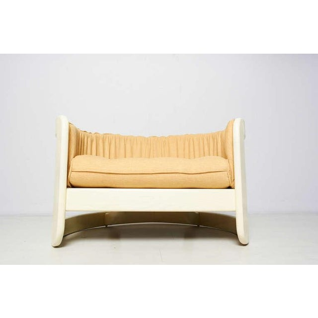 Milo Baughman Style White Lacquer Lounge Chair - Image 6 of 6
