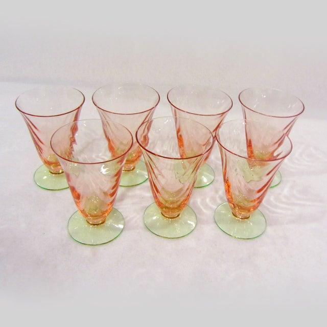 Optic Juice Glasses - Set of 7 - Image 3 of 5