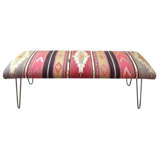 Turkish Kilim Bench in Sunrise Fabric