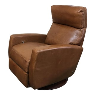 American Leather Cognac Leather Recliner