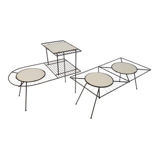 Mid-Century Modern Wire Tables - A Pair