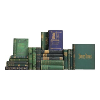 Antique Book Mix: Green & Blue - Set of 20