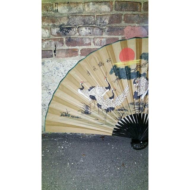 Image of Antique 1930s Chinoiserie Wall Fan