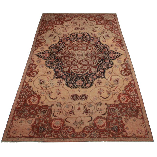 Image of Persian Hand Knotted Wool Kerman Rug- 10′8″ × 18′5″