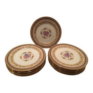 C. Ahrenfeldt Limoges Cabinet Plates - Set of 12