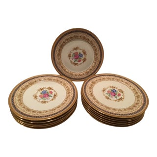 C. Ahrenfeldt Limoges Cabinet Plates - Set of 12