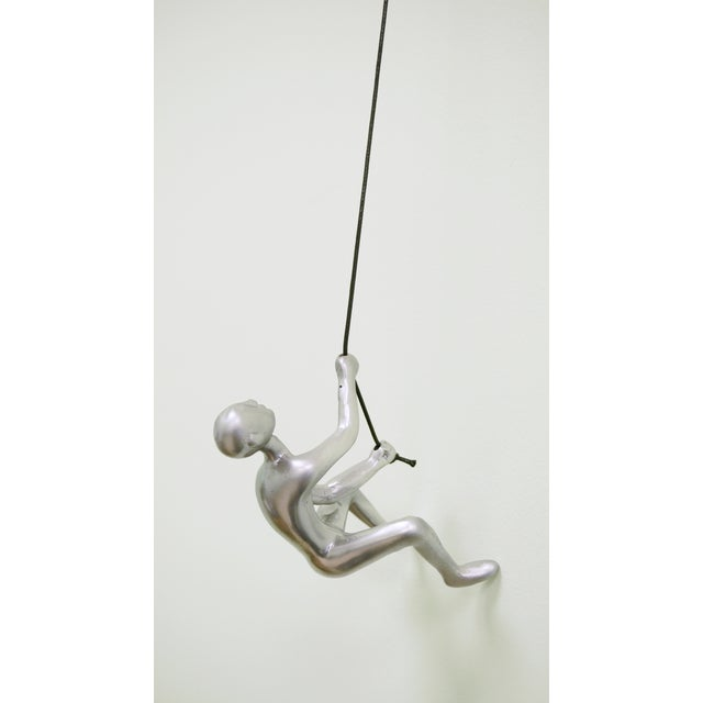 Silver Climbing Man Wall Art - Image 2 of 5