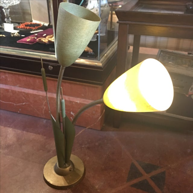 Image of Vintage Cat O'Nine Tails Table Lamp