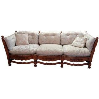 1930s Jamestown Lounge Feudal Oak Sofa
