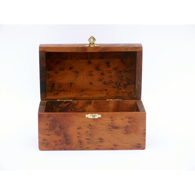 Decorative Juniper Burl Wood Box - Image 6 of 10