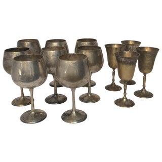 Vintage Silverplate Goblets - Set of 12