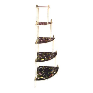 Chinoiserie 5 Tier Corner Shelf