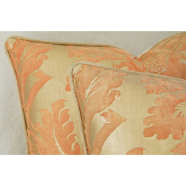 "Image of Italian Fortuny ""Glicine"" Pillows - A Pair"