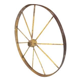 Small Yellow Metal Wagon Wheel