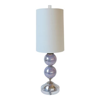 Lilac Two-Sphere Glass & Nickel Lamp