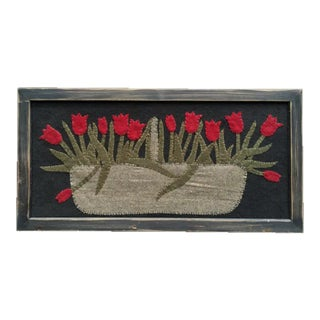 Framed Tulip Basket Embroidery