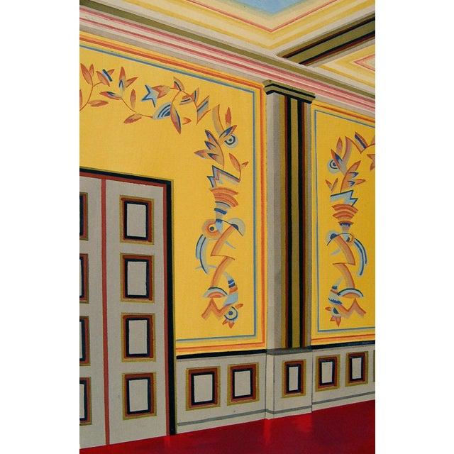 Antique 1929 Art Deco Interior Pochoir Print - Image 1 of 3