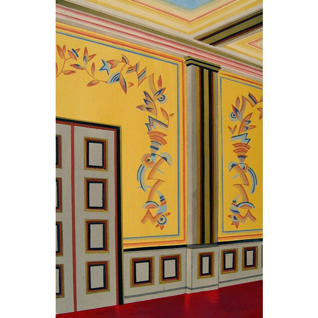 Image of Antique 1929 Art Deco Interior Pochoir Print