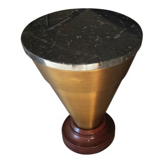Henredon Aubergine Park Central Marble Drum Table