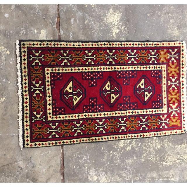 Image of Turkaman Handmade Persian Rug - 1′8″ × 2′11″
