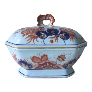 Italian Faience Hand-Painted Imari Tureen