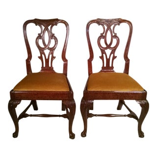 Irish Chippendale Side Chairs - A Pair