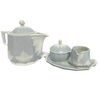 Vintage Nymphenburg Perl Blue Tea Set