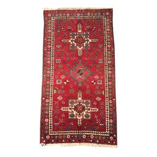 Vintage Persian Tribal Geometric Rug- 3′3″ × 6′