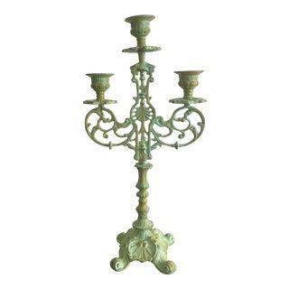 French Rococo Patina Candelabra