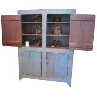 Large Blue Wall Cupboard