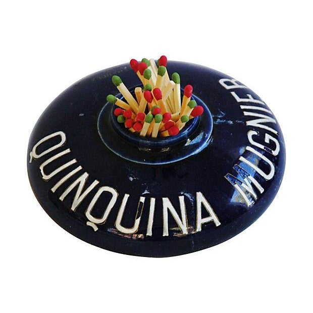 Image of Vintage French Quinquina Mugnier Match Holder