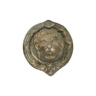 Large Lion Face Door Knocker Cast Iron