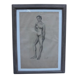 Female Nude Drawing Standing Figure by James Battle