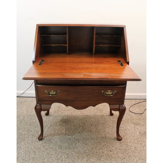 Traditional Queen Anne Cherry Secretary/Desk - Image 7 of 11