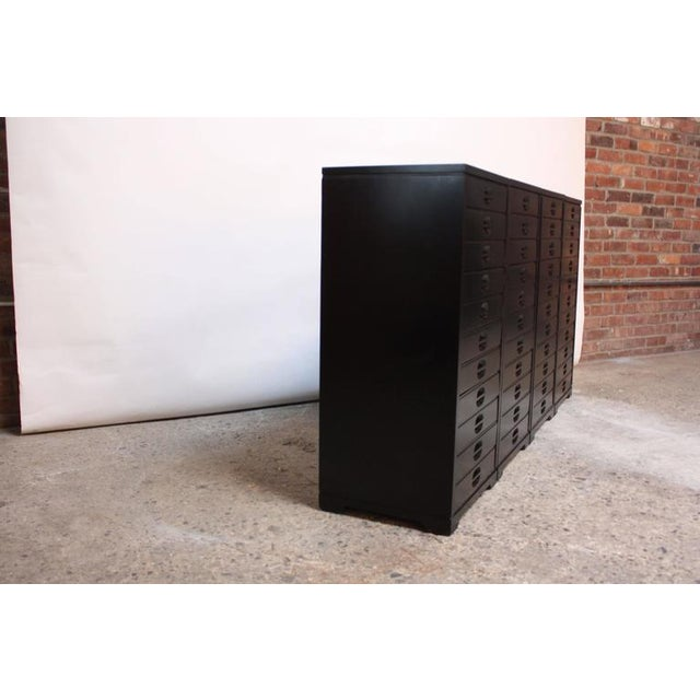 Set of Four Mid-Century American Modern Ebonized Specimen Cabinets - Image 10 of 10