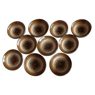 Mid-Century Stoneware Bowls - Set of 10