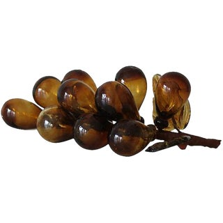Mid-Century Amber Glass Grapes