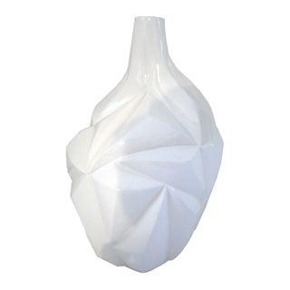 White Multifaceted Vase